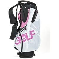 Desconocido Golf36 100-APINK - Bolsa de golf, color blanco y rosa
