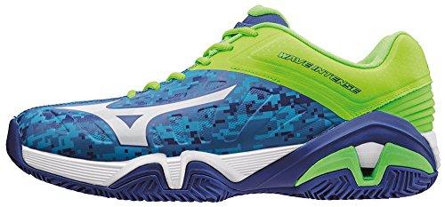 Rotonda Da Tennis Cc Blu Mizuno Blu Wave Bianco bluecamouflage Uomo Greengecko Intenso Scarpe 1x4qYtYX
