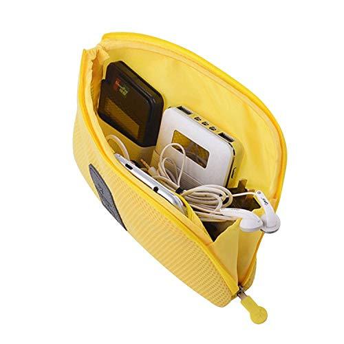 Borsa organizer per accessori elettronici borsa portatile per trucchi custodia da viaggio digitale multifunzione per cellulare cuffie cavo dati USB