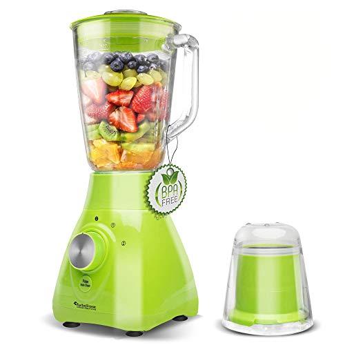 2in1-800 Watt Standmixer mit Mix-Behälter aus Glas 1,5 Liter inklusive Kaffeemühle, BPA-Free Smoothie Maker Ice-Crusher