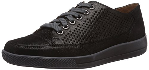 Ganter Giulietta, Weite G, Sneakers Basses Femme Noir (schwarz 0100)
