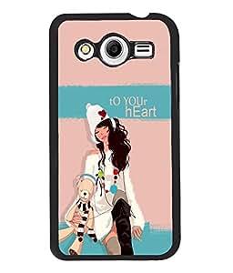 Fuson Teddy Girl Back Case Cover for SAMSUNG GALAXY CORE 2 - D3932