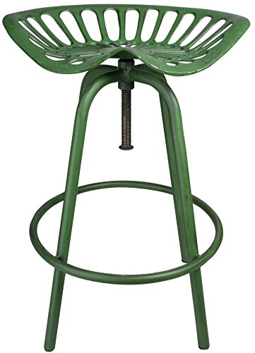 Esschert Design Sitzvorrichtung, Traktorstuhl JD, grün, 50 x 46.5 x 69.7 cm, IH023