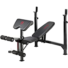 Marcy Eclipse BE5000 Olympic Weight Bench with Rack, Arm Curl Pad and Leg Extension, 270 kg Load