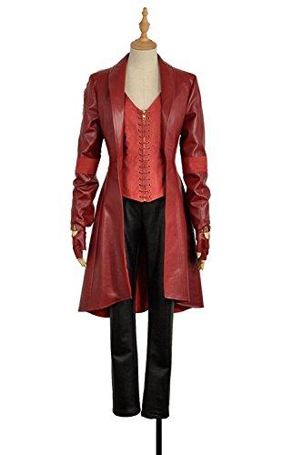 cosplayfly adulto Bruja Escarlata Mujeres Capitán América traje de Cosplay