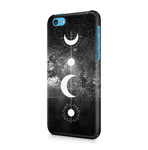 Cute Saturn Cosmic Galaxy Pattern Apple iPhone 5 / iPhone 5S / iPhone SE SnapOn Hard Plastic Phone Protective Custodia Case Cover Geometric Moon