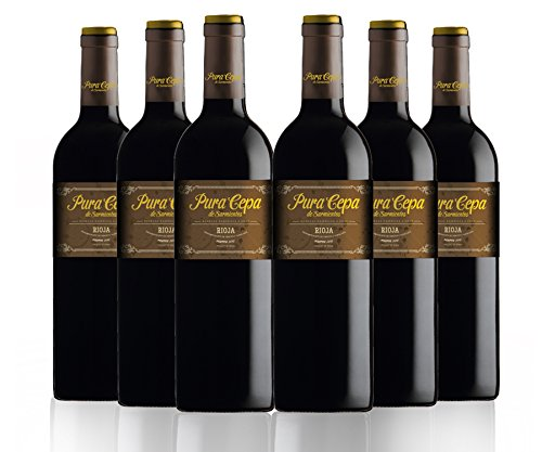 San Jamón Pura Cepa Vino Tinto Reserva Rioja - Paquete De 6 X 750 Ml - Total: 4500 Ml