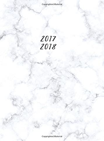 2017 2018: Weekly Monthly Planner; Small Undated Monthly Planner; Cute Marble Academic Daily Planner for Women, Teachers, Appointments, Planning; Trendy Marble Monthly Planner