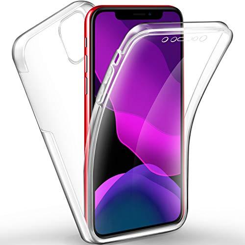 AROYI iPhone 11 Hülle 360 Grad Handyhülle, Silikon Crystal Full Schutz Cover [2in1 Separat Hart PC Zurück + Weich TPU Vorderseite] Vorne und Hinten Schutzhülle für iPhone 11 (6,1 Zoll)