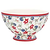 GreenGate STWFREMHEL0106 Helena French Bowl Medium White 10 cm (1 Stück)