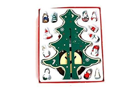 Lanlan DIY Weihnachtsdekoration Desktop Dekoration Mini Holz Weihnachtsbaum, grün