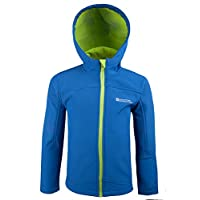 Mountain Warehouse Exodus Kids Softshell Jacket - Breathable Childrens Jacket, Showerproof Girls Coat, Fleece Lined Boys Hoodie, Wind Resistant - for Travelling