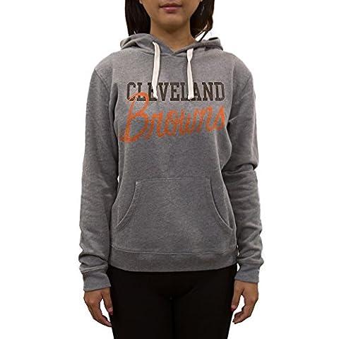 NFL Cleveland Browns Women's Sweatshirt, Large, Medium Heather Grey