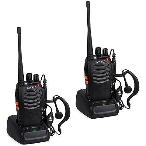ESYNiC 2pz Walkie Talkie Lunga Distanza Due-Via Radio UHF 400-470MHz