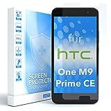 EAZY CASE 1x Panzerglas Displayschutz 9H Härte für HTC One M9 (Prime Camera Edition), nur 0,3 mm dick I Schutzglas aus gehärteter 2,5D Panzerglasfolie, Displayschutzglas, Transparent/Kristallklar