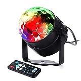 Qedertek Discokugel LED Party Lampe Musikgesteuert Disco Lichteffekte Discolicht mit Fernbedienung für Kinderzimmer, DJ, Bar, Karaoke, Weihnachten, Hochzeit, Club, Pub