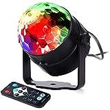Qedertek Mini Lámpara Discoteca LED RGB para Iluminar en Fiestas, Cumpleaños, Navidad