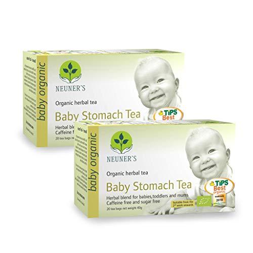 Neuener | Bio Baby Bauch Tee | Baby stomach | Für Babys, Kleinkinder und Mütter | 2 x 20 Teebeutel (2 Pakete)