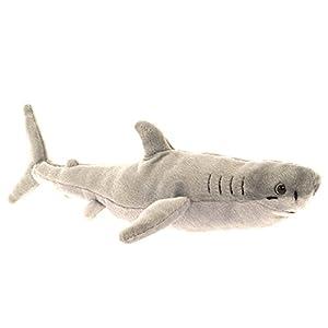 Wild Planet, All About Nature-38cm Gran Tiburón Blanco-Hecho a Mano, Peluche Realistico, Multicolor (K7923)