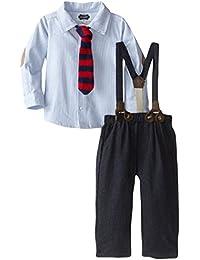 Mud Pie Baby Boys' Suspender Pant Set