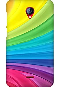 AMEZ designer printed 3d premium high quality back case cover for Micromax Unite 2 A106 (abstract colurful)