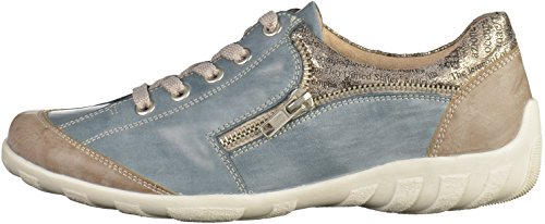 Sigaro Di Remonte R3403-25 Womens Shoes steel/royal/antique / 14