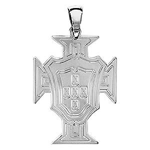 Helios Bijoux Anhänger Kreuz Portugal groß–Silber massiv 5g–NEU