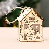 Xiaomu Weihnachten Holzhaus Lampe Holzhaus super helle hängende Ornamente LED-Licht Urlaub Dekor Landschaft Lampe