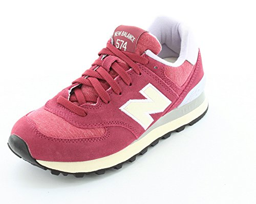 New Balance  WL574PBU,  Herren New Balance WL 574 PBU Burgundy Grey , Pink Rosa