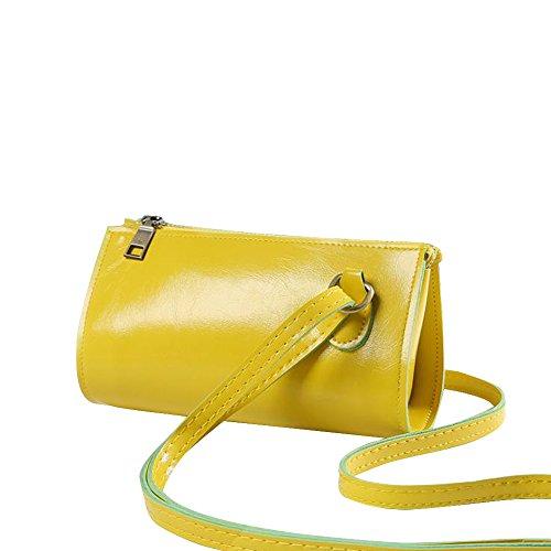 Feixiang, Borsa a tracolla donna Yellow