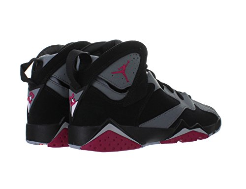 Nike Air Jordan 7 Retro Gg, Chaussures de Running Entrainement Femme Noir / Rosa / Gris (Black / Sprt Fchs-Cl Gry-Wlf Gry)