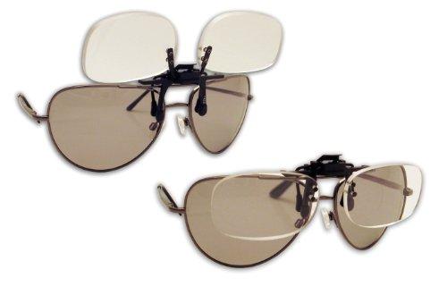 Fisherman Eyewear Flip und Fokus Lupe-14FF Clips auf Regular Brillen mit Vergrößerung von + 4.00