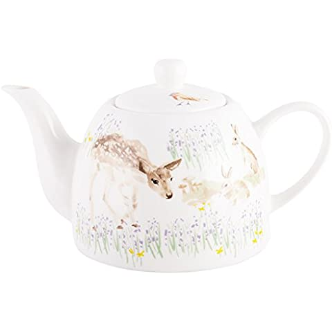 National Trust New Forest Toile-Teiera da 6 tazze, Fine China, colore: beige