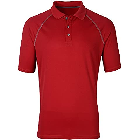 Moheen Men's Dry Max Moisture Wicking Contrast Polo Shirts Red XXL