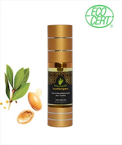 Huile d'argan cosmétique bio 30 ml/pressée à froid hydratante anti-âge pour visage, cheveux, corps ongles, Certifiée 100% BIO ECOCERT