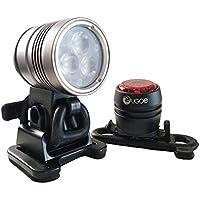 nachleuchtendem Streifen UK Lights Helmlampe 4AA eLED Cpo schwarz 14444N ES//Frontschalter