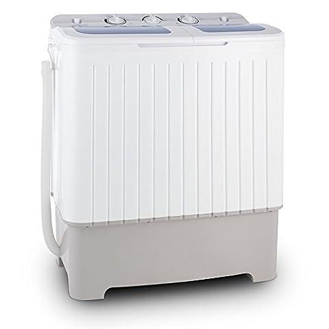 oneConcept Ecowash XXL mini machine à laver (puissance de 400W au lavage et 150W a l'essorage, capacité 6,5 kg, programme delicat, ideal studio et camping)