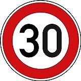 Verkehrszeichen Zulässige Höchstgeschwindigkeit 30 Nr. 274-30 | Ø 420mm, Alu 2mm, RA1 | Original Verkehrsschild nach StVO mit RAL Gütezeichen | Dreifke®