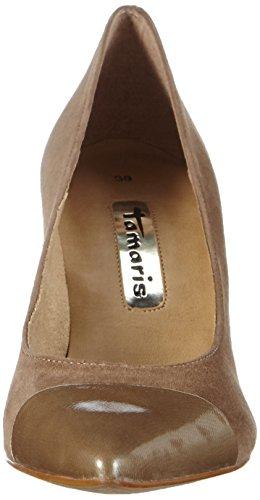 Tamaris 22427, Chaussures à talons - Avant du pieds couvert femme Beige - Beige (NATURE 318)