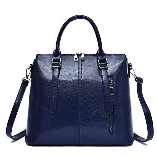 uliaadela Frauen Top Griff Tasche Pu Leder Umhängetasche Stilvolle Handtasche Geldbörse Kleine Klassische Damen Umhängetasche, blau (Größe 13 Breite Kleid Schuhe Frauen)