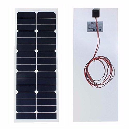 Bluelover Ss-30W12V 730X280X 2.5 Mm 12V W Solar Panel Photovoltaik Semi Flexibel Für Camper Boat Cabin