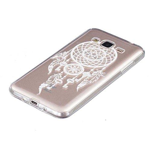 Boxtii® Cover per iPhone 7[con salvaschermo in vetro temperato in omaggio], in TPU ultra sottile, antigraffio, assorbimento degli urti, guscio di protezione per Apple iPhone 7, motivo: bocca di leone #9 White