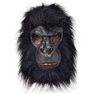 Rubie's BM371–Latex-Maske Gorilla, Einheitsgröße (Affe Halloween Maske)