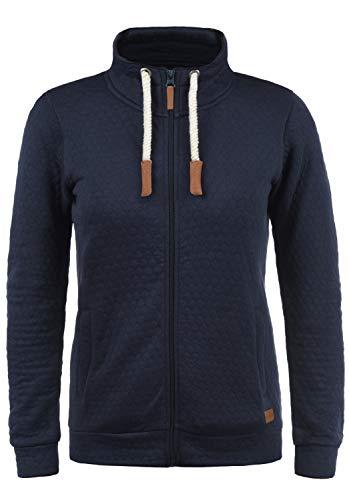 BlendShe Patty Damen Sweatjacke Cardigan Sweatshirtjacke Mit Stehkragen, Größe:S, Farbe:Navy (70230)