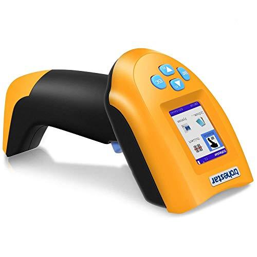 EGCLJ Handscanner Mit LCD-Bildschirm, Kabellose Laser-Barcode-Pistole , Sammeln Sie Den Lagerbestand. Scannen Sie Den USB-Code. Wiederaufladbarer Automatischer 1D-Scanner