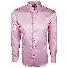 more photos 00803 02137 Amazon.it: camicia seta uomo - Rosa