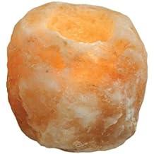 Portavelas de vidrio de sal del Himalaya de varios tamaños (0,7kg – 1kg)