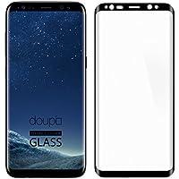 doupi 3D FullCover Premium 9H vetro temperato HD protezione dello schermo per Samsung Galaxy S8 Touch Screen Protector Tempered Glass Pellicola Protettiva, nero