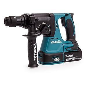Makita DHR243Y1J Martillo perforador, 0 W, 18 V, Negro, Azul, SystemKIT mit 1x Akku 1,5 Ah