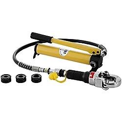 PhenixGa Pince à sertir hydraulique GC-1525H Pince De Main Câble Avec Une Tête Rotative à 360 °Pince De Sertissage Outil De Sertissage (GC-1525H)